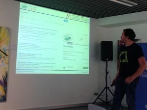 Presentación de arroceando en el Encuentro por el desarrollo de la comarca